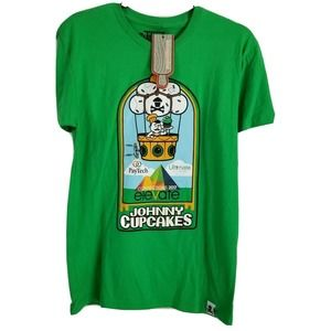 Johnny cupcakes Small graphic logo t shirt green